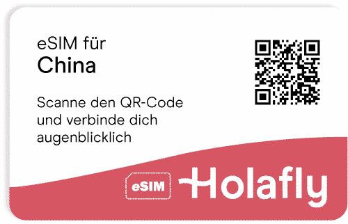 eSIM für China von Holafly