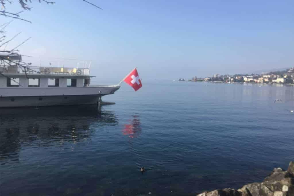 Genfer See Montreux Schweiz