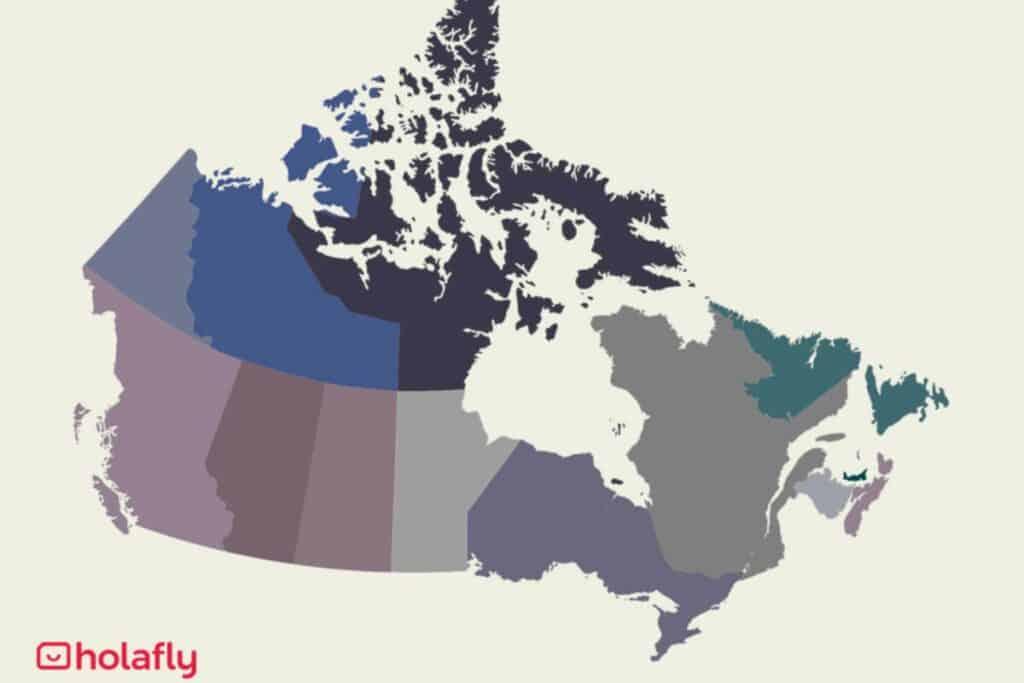 Internet Karte von Kanada