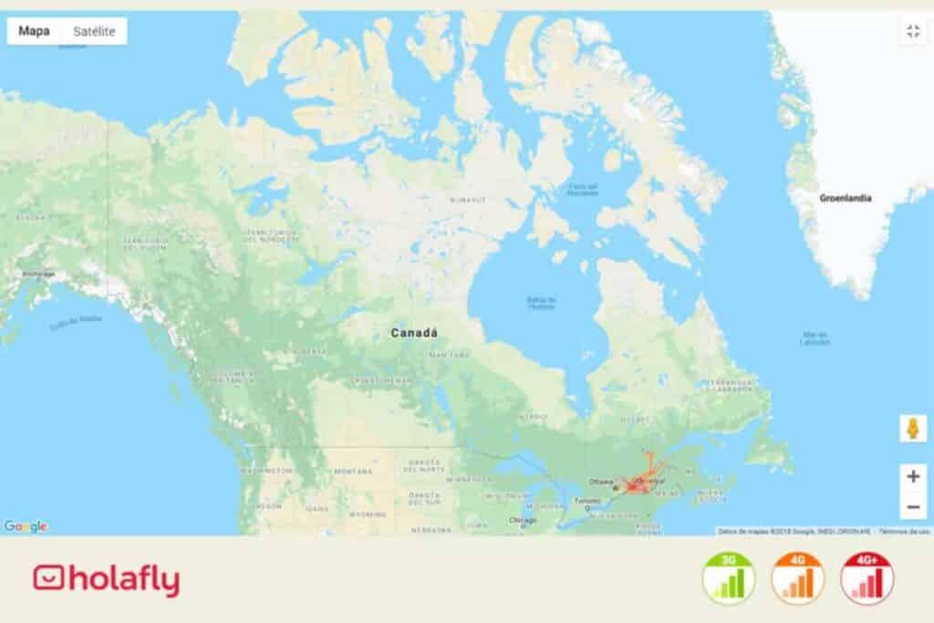 Internetabdeckung in Kanada von Videotron