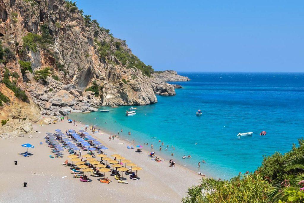 Voir la côte de la Turquie