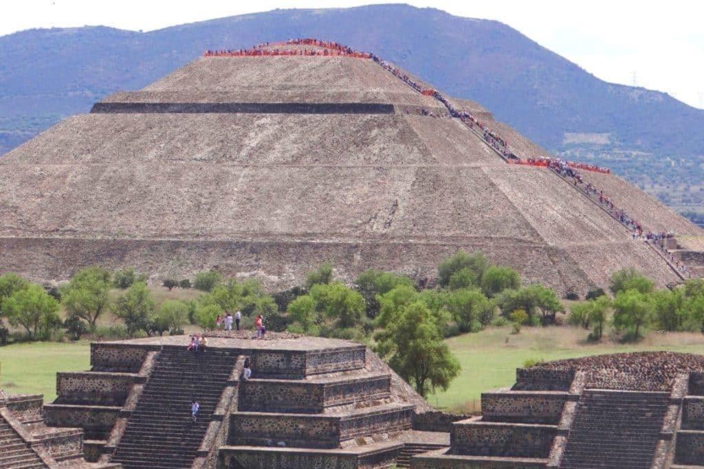 Pyramides de Teotihuacan à México, Mexique, que vois a mexico