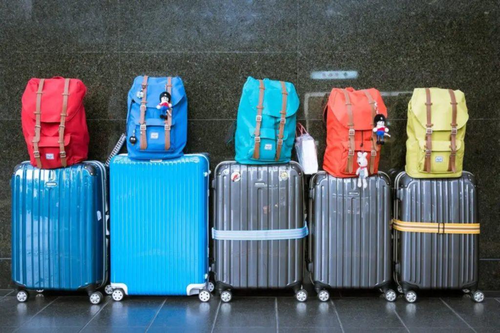 5 valises en soute et 5 sac à dos pour voyager au mexique, valise mexique
