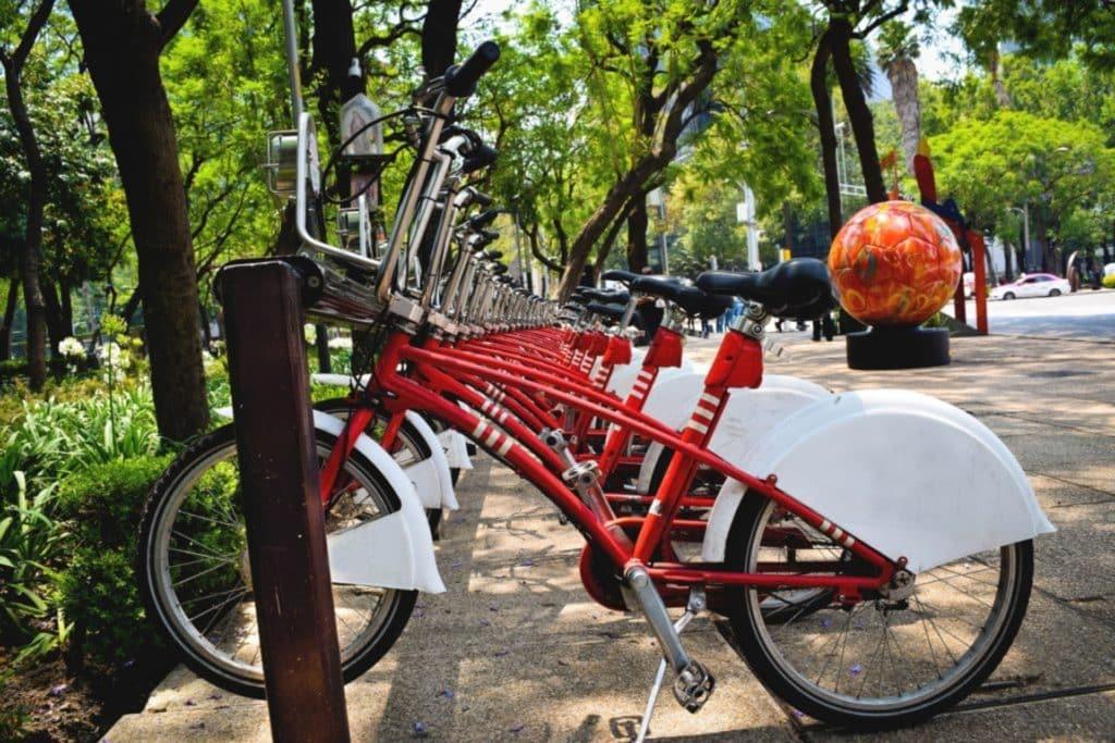 Vélo gratuit à disposition des voyageurs á México, que voir a mexico