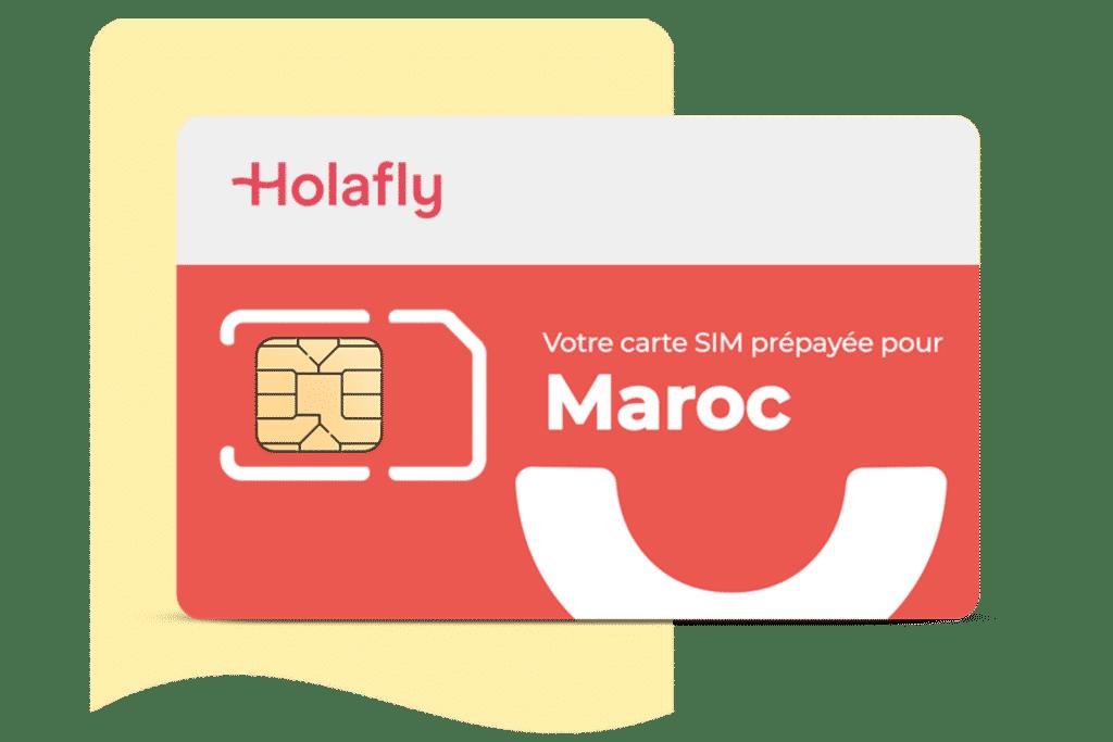 carte SIM prépayée Holalfy pour le Maroc