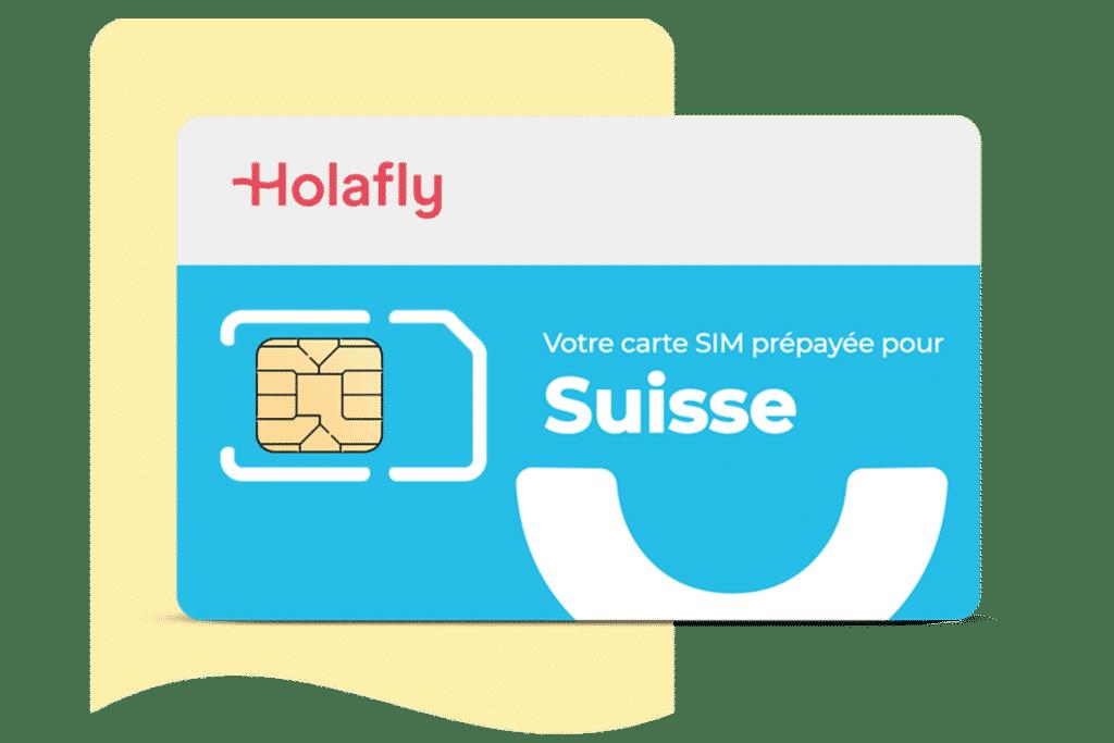 carte sim prépayée holafly pour la suisse