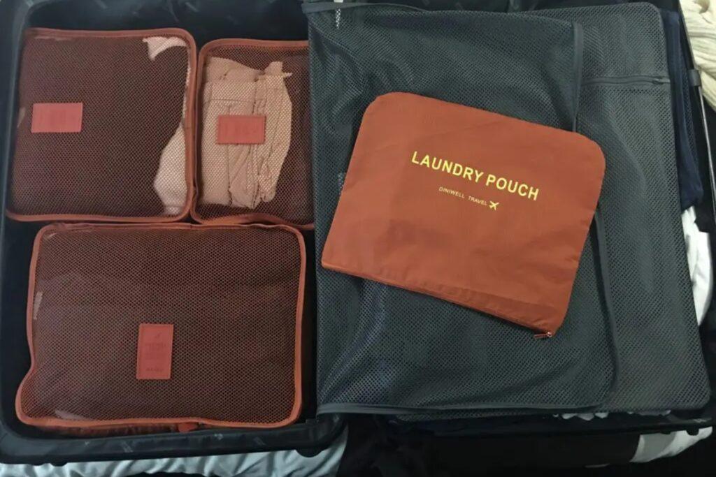 cudes de rangement pour une valise cabine pour voyager