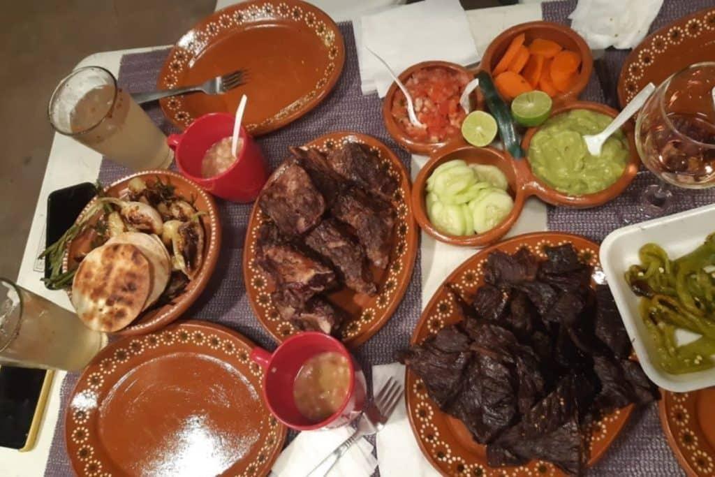plats de viandes et legume de guadalajara