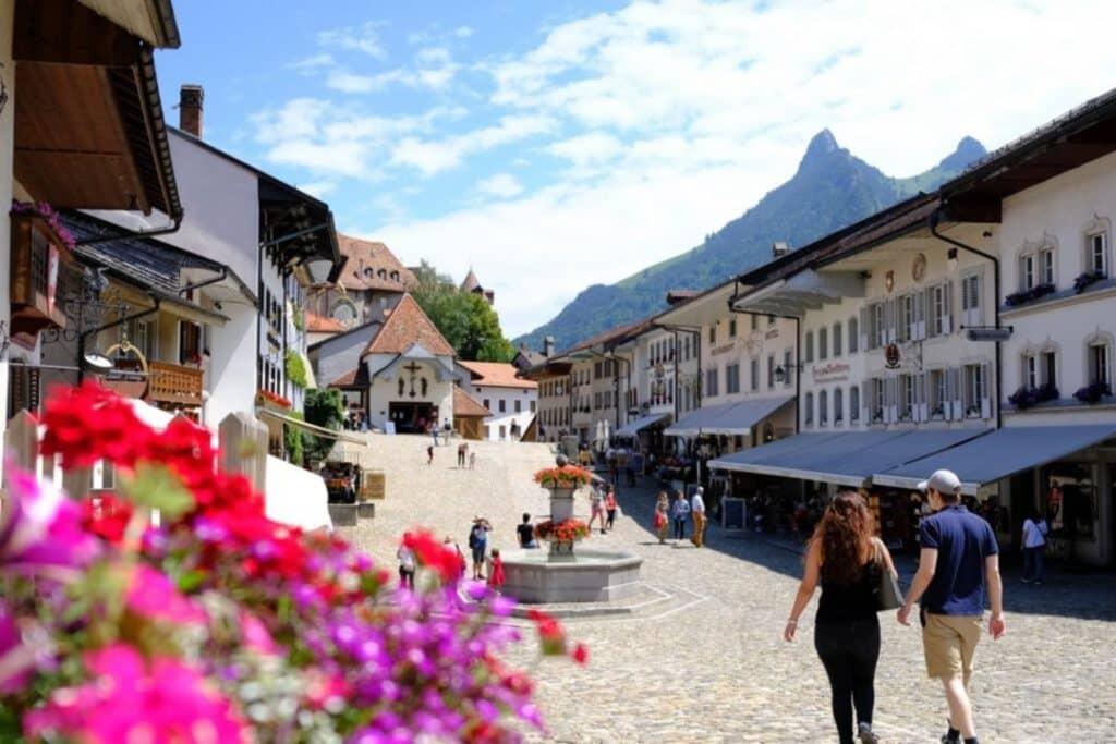 ville medievale de gruyere en suisse
